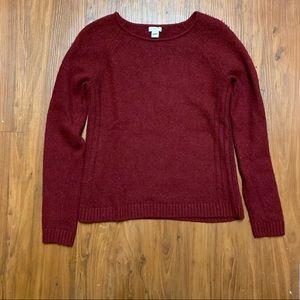 J. Crew Red Wool Sweater